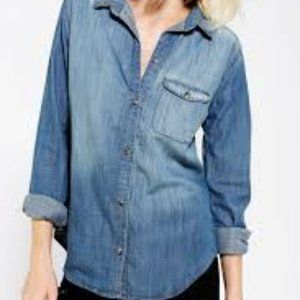 BDG Urban Outfitters Boyfriend Fit Chambray Shirt